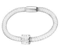 Armband mit Anhänger silber/weiß