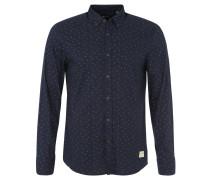 Hemd, Print, Regular Fit, Button-Down-Kragen, Blau