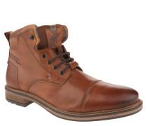 Boots, Leder, Reißverschluss, Used-Look, Braun