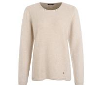 Pullover, Struktur-Strick, Rollkanten, Beige