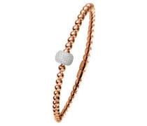 Zugarmband Silber rosevergoldet mit Zirkonia