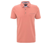 Poloshirt, Piqué-Struktur, Brusttasche, Baumwolle, Orange