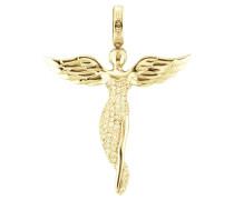 Anhänger Engel mit Stein vergoldet ERP-ANGEL-G
