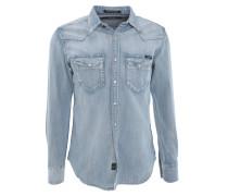 Freizeithemd, Baumwolle, Jeans, Brusttaschen, Used-Look