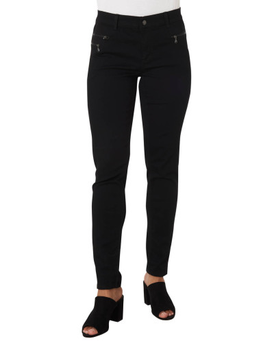 Jeans, Slim Fit, Reißverschlusstaschen