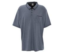 Poloshirt, Brusttasche, Button-Down-Kragen, Große Größen, Blau