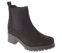 Chelsea Boots, Leder, Profilsohle, Schwarz