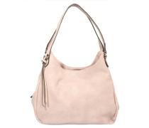 Handtasche, Beutelform, Glattleder-Optik, Rosa