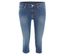 "3/4-Jeans ""Jasmin Capri"", Waschung, Slim Fit, Stretch, Blau"