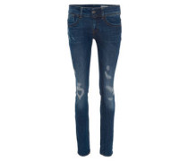 """Jeans """"Lynn"""", Mid Skinny, Destroyed-Akzente, breiter Bund"""