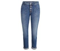 """Jeans """"Tapered B-Fit"""", lässiger Schnitt, umgekrempelte Beinenden, Blau"""