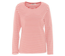 Langarmshirt, gestreift, zweifarbig, Baumwoll-Mix, Rot