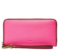Geldbörsen für Damen EMMA LARGE ZIP CLUTCH RFID NEON PINK