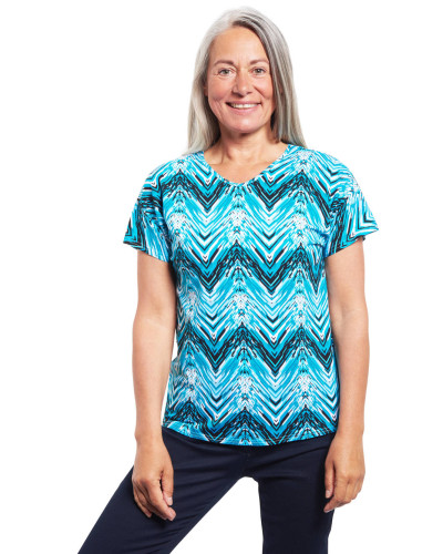 T-Shirt, Kurzarm, Zick-Zack-Muster