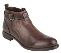 """Boots """"Brad"""", Leder, Schnalle, Reißverschluss"""