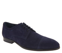 "Schnürschuhe ""Kalamos"", Veloursleder, einfarbiges Design, Blau"