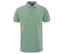 Poloshirt, reine Baumwolle, Farbakzente, Grün