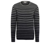 Pullover, Strukturstrick, Streifen, Melange
