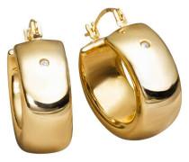 Creolen mit Kristallen Gold 375