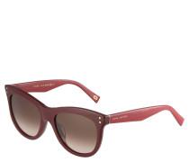 Sonnenbrille, bordeaux-rotes Gestell, Farbverlauf