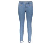 """Jeans """"Skinny"""", Slim Fit, Saum mit Troddeln"""