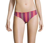 Bikini Slip, geometrischer Print, Applikationen