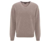 Pullover, V-Ausschnitt, Merino-Wolle, uni