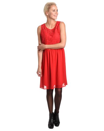 Kleid, florale Spitze, tailliert, Reißverschluss
