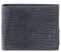 Geldbörse, Leder, Struktur-Muster, Blau