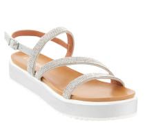 Sandalette. Strass, Plateausohle