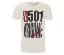 T-Shirt, Front-Print, Baumwolle, Weiß