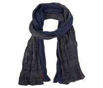 Schal, zweifarbig, Knitter-Optik, Emblem