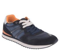 "Sneaker ""Eastman"", Retro-Look, Materialkombination, Blau"
