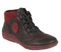 Sneaker, Leder, Filz, Reißverschluss