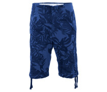 Bermuda, Loose Fit, Camouflage, reine Baumwolle, Blau