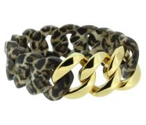 """Armband """"Original"""" 107035 Edelstahl, Leoparden-Muster, gold"""