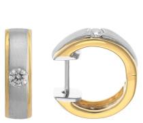 Creolen Platin 950/ Gold 750 mit Diamant