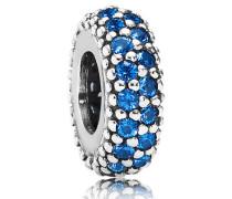 Charm Blaue Pavé Inspiration Silber mit Zirkonia 791359NCB