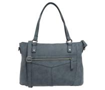 "Handtasche ""Agnes"", Kunstleder, Ziernähte, Blau"