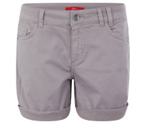 Shorts, uni, 5-Pocket-Design, Baumwolle, Grau