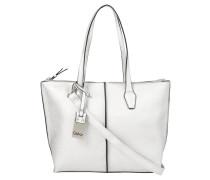 Handtasche, Leder-Optik, Narben-Design, Silber