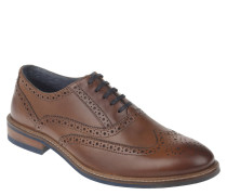 Schnürschuhe, Oxford-Stil, Brogue-Design, Braun