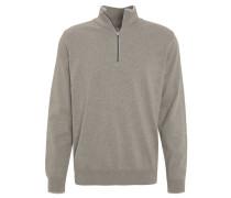 Pullover, Baumwoll-Mix, Reißverschluss, uni