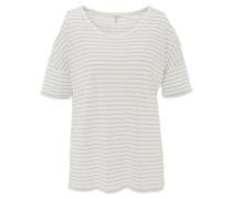 T-Shirt, gestreift, Schulter-Cut-Out