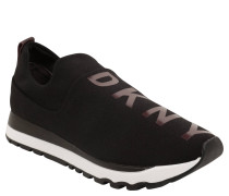 "Sneaker ""Jadyn"", elastischer Webstoff, Logo-Print, Rot"