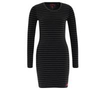Minikleid, Streifen-Design, Jersey, Grau