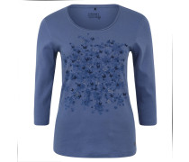 Shirt, 3/4-Arm, Front-Print, Glitzernähte