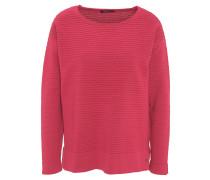 Pullover, uni, Struktur-Strick, Rollsaum