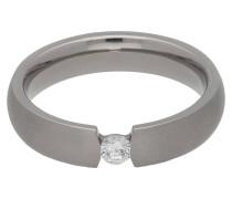 Titan Ring, Zirkonia-Stein, für Damen