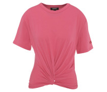T-Shirt, uni, Knoten-Optik